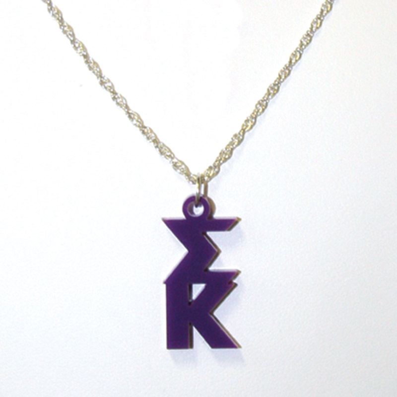Acrylic Sorority Lavalier Necklace