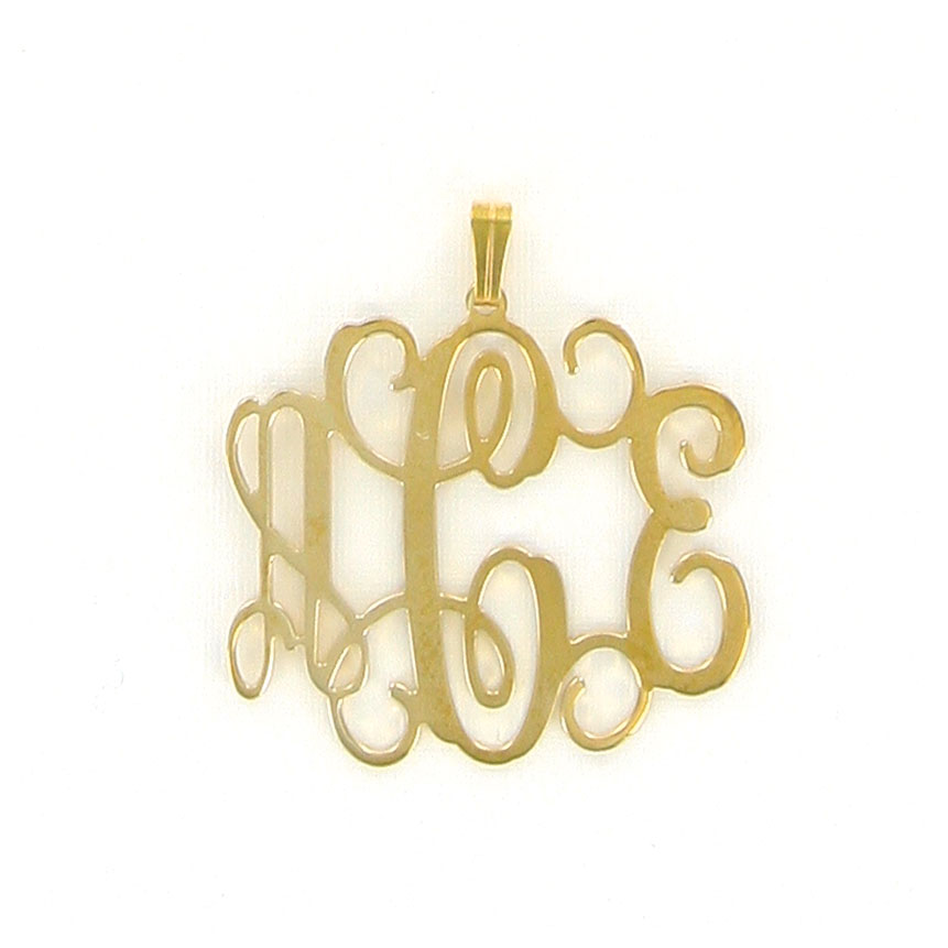Medium Gold-tone Filigree Pendant