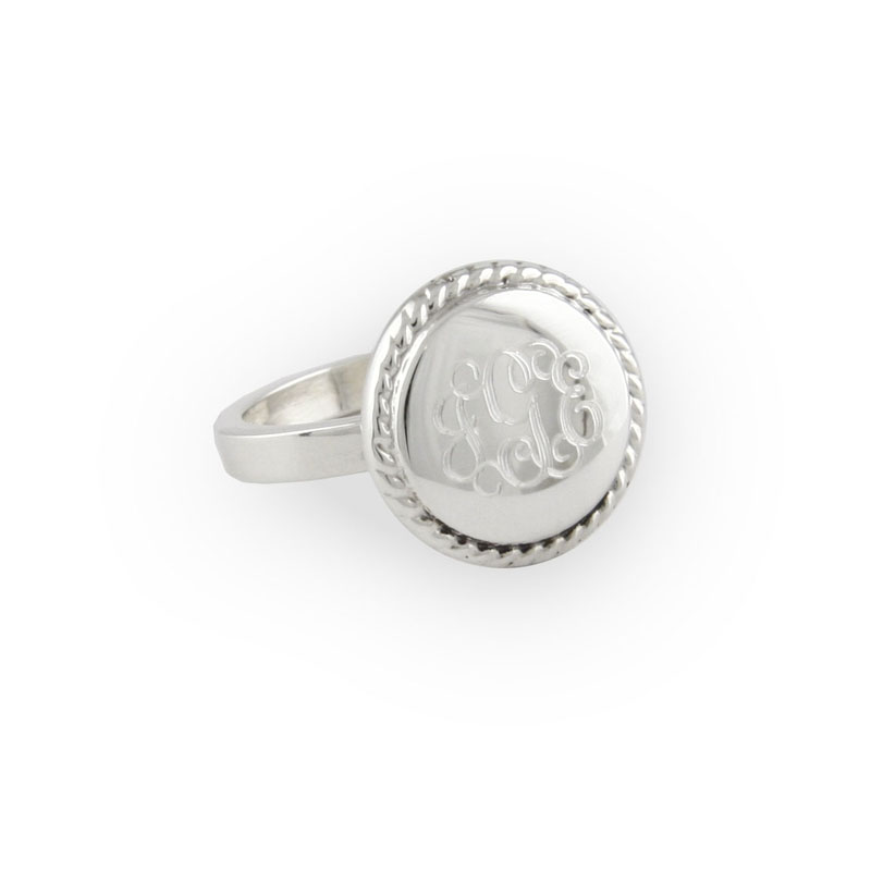 Sterling Silver Round Rope Ring